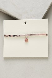 Anthropologie Stone Leather Choker Necklace Pink
