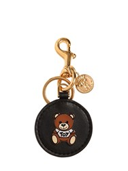 Moschino Teddy Bear Pin Leather Key Chain