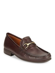 Vince Camuto Leather Horsebit Loafers Dark Brown