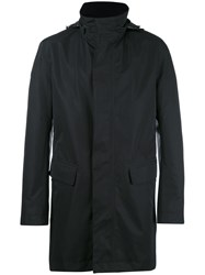 Hugo Boss Roll Neck Raincoat Black