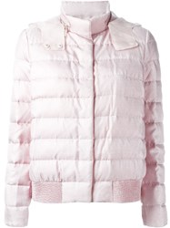 Moncler Gamme Rouge Puffer Jacket Pink And Purple