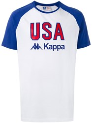 Kappa Printed Raglan T Shirt Men Cotton L White