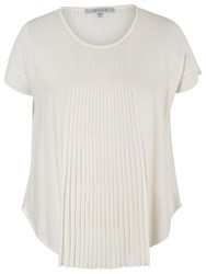 Chesca Short Sleeve Flared Top Ivory