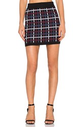 Bcbgeneration Plaid Mini Skirt Black And White