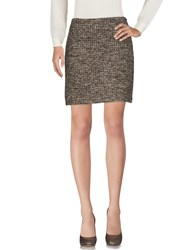 Gigue Skirts Knee Length Skirts Khaki