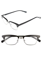 Eyebobs Men's Ornery 49Mm Reading Glasses Black With Silver