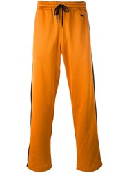 Ami Alexandre Mattiussi Contrast Stripe Track Pants Yellow Orange