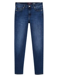 Violeta By Mango Straight Theresa Jeans Open Blue