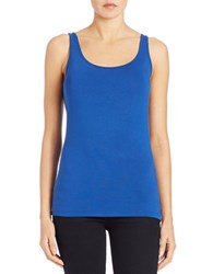 Lord And Taylor Petite Iconic Fit Tank Top True Blue