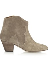 Isabel Marant The Dicker Suede Ankle Boots Taupe