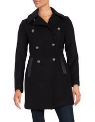 Trina Turk Olivia Wool Blend Peacoat Black