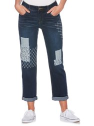 Rafaella Patchwork Girlfriend Jeans Dusk