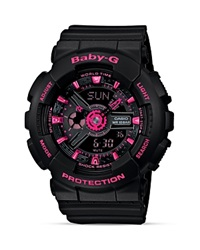 Baby G Street Neon Watch 46.3Mm Black Pink