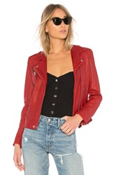 Iro Han Leather Jacket Red