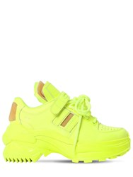 Maison Martin Margiela 50Mm Retro Fit Patent Leather Sneakers Yellow