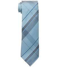 Kenneth Cole Reaction Canvas Grid Teal Ties Blue