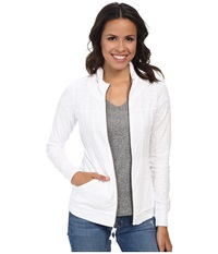 Mod O Doc Zip Funnel Jacket White Women's Coat