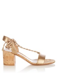 Gianvito Rossi Ankle Tie Leather Sandals Bronze