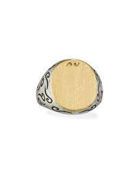 Marco Ta Moko Ara Silver And 18K Yellow Gold Signet Ring