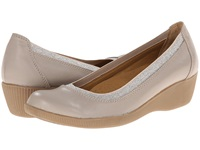 Softspots Stephanie Ii Taupe Velvet Sheep Nappa Women's Wedge Shoes Beige