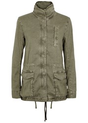 James Perse Green Twill Jacket Khaki