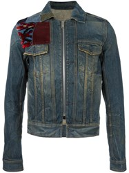 Maison Martin Margiela Patch Detail Denim Jacket Blue