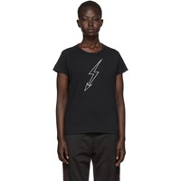 Givenchy Black Lightning Bolt 'World Tour' T Shirt