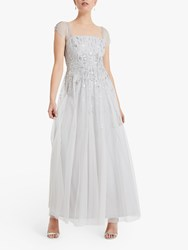 Phase Eight Collection 8 Mara Sequin Maxi Dress Silver