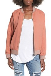 Lovers Friends 'Roadtrippin' Bomber Jacket Pink