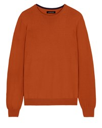 Jaeger Merino Wool Crew Neck Sweater Fox
