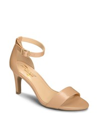 Aerosoles Leather Ankle Strap Sandals Nude