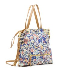 Sanctuary Flora Leather And Suede Tote Honey Wild Poppies