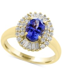 Effy Tanzanite Royale By Tanzanite 1 1 8 Ct. T.W. And Diamond 1 2 Ct. T.W. Ring In 14K Gold Blue