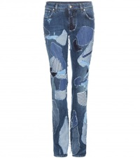 Dolce And Gabbana Patchwork Jeans Blue