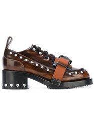 N 21 No21 Buckle Strap Lace Up Shoes Brown