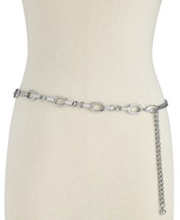 Inc International Concepts I.N.C. Metal Chain Belt Created For Macy's Silver