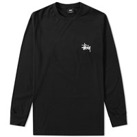 Stussy Long Sleeve Basic Tee Black