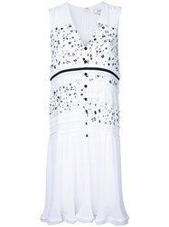 Carven Dots Print Buttoned Dress White