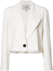 Carolina Herrera Single Button Cropped Jacket White