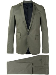 Les Hommes Single Breasted Suit Green