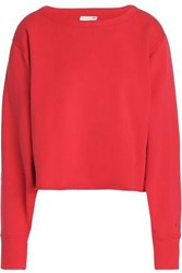 Rag And Bone French Cotton Terry Sweatshirt Red
