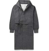 Reigning Champ Fleece Back Cotton Jersey Hooded Robe Gray