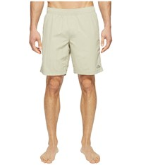 The North Face Class V Pull On Trunk Long Granite Bluff Tan Men's Swimwear White