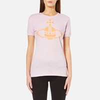 Vivienne Westwood Anglomania Women's Embroidered Orb T Shirt Lilac Purple