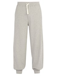 Alexander Mcqueen Tapered Leg Cotton Jersey Track Pants Light Grey