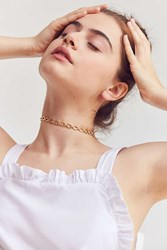 Luv Aj Chain Link Choker Necklace Gold