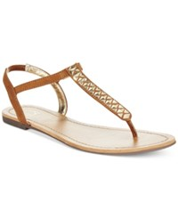 Material Girl Sage T Strap Flat Thong Sandals Only At Macy's Women's Shoes