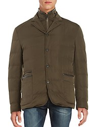 Corneliani Quilted Puffer Jacket Charcoal