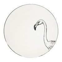 Rory Dobner Perfect Plates Francis Flamingo Black And White