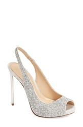 Imagine By Vince Camuto Women's 'Pavi' Slingback Peep Toe Pump Crystal Silver